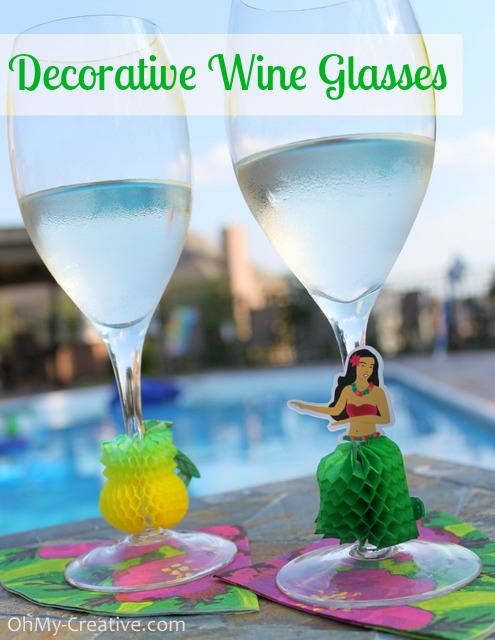 Luau Wine Glass Charms