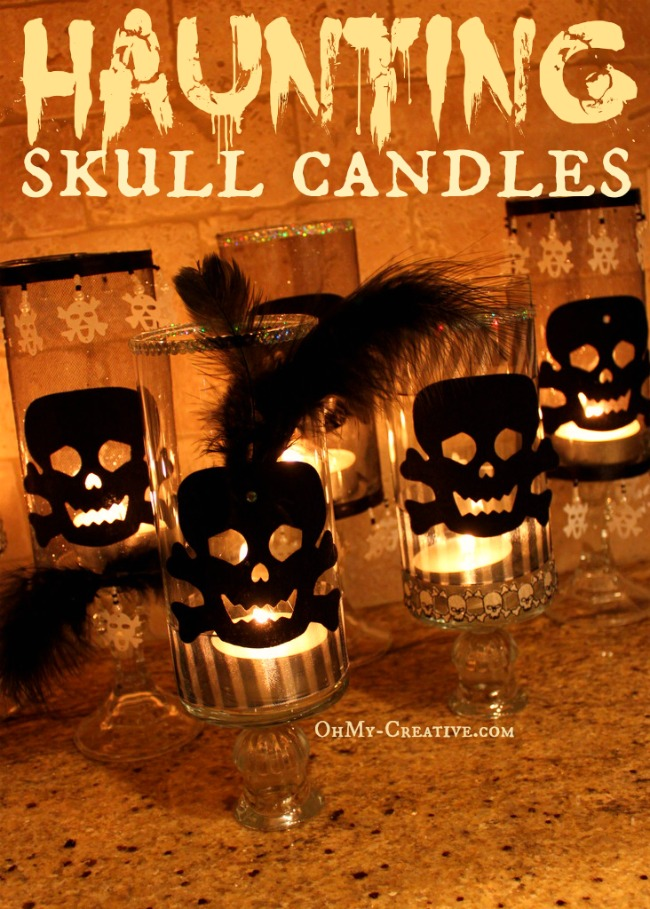 Haunting Skull Candles - OhMy-Creative.com