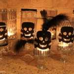 DIY Skull candle holders