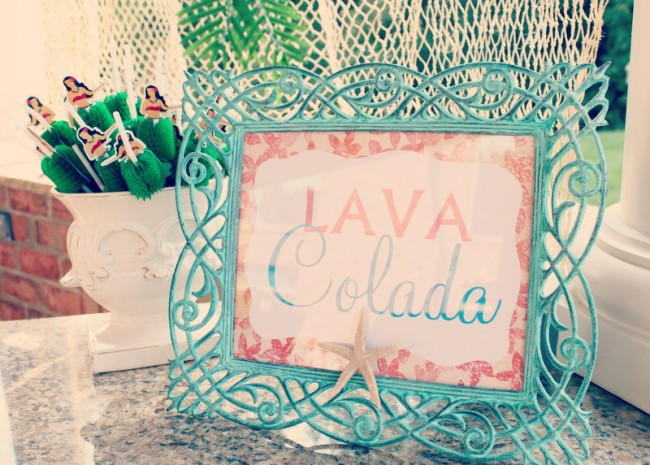 This Lava Colada Luau Party Drink is a tasty and festive summer drink. Also know as the Lava Flow that is popular in Hawaii     OHMY-CREATIVE.COM