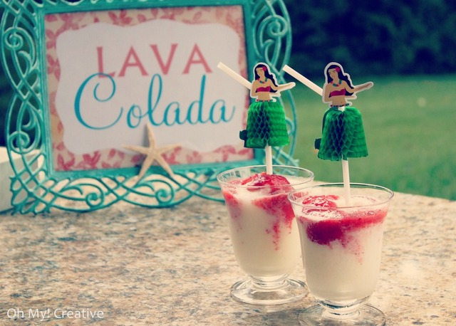 Lava Colada – Hawaiian Luau Drink