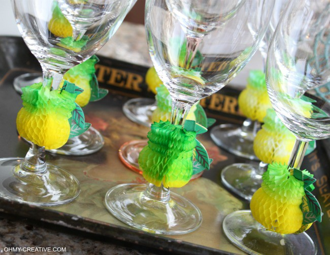 These Summer Party Glasses Are Super Easy To Make And Great For A Luau Or Pool