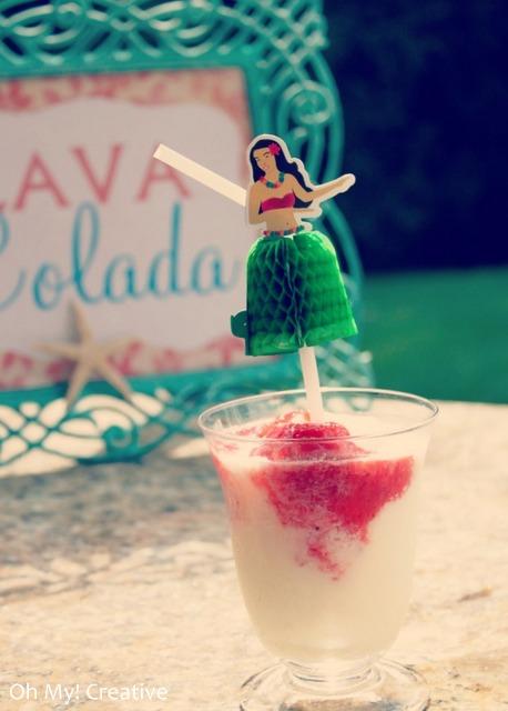 luau drink lava colada  |  OHMY-CREATIVE.COM
