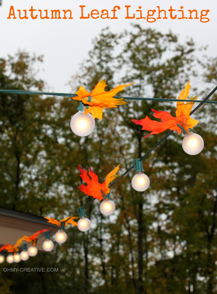 Autumn Leaf Lighting by Oh My! Creative