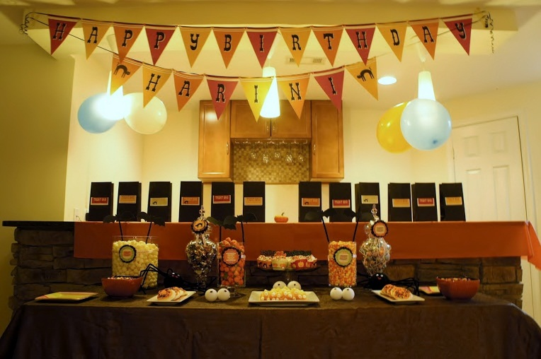 Halloween Themed Brithday Party