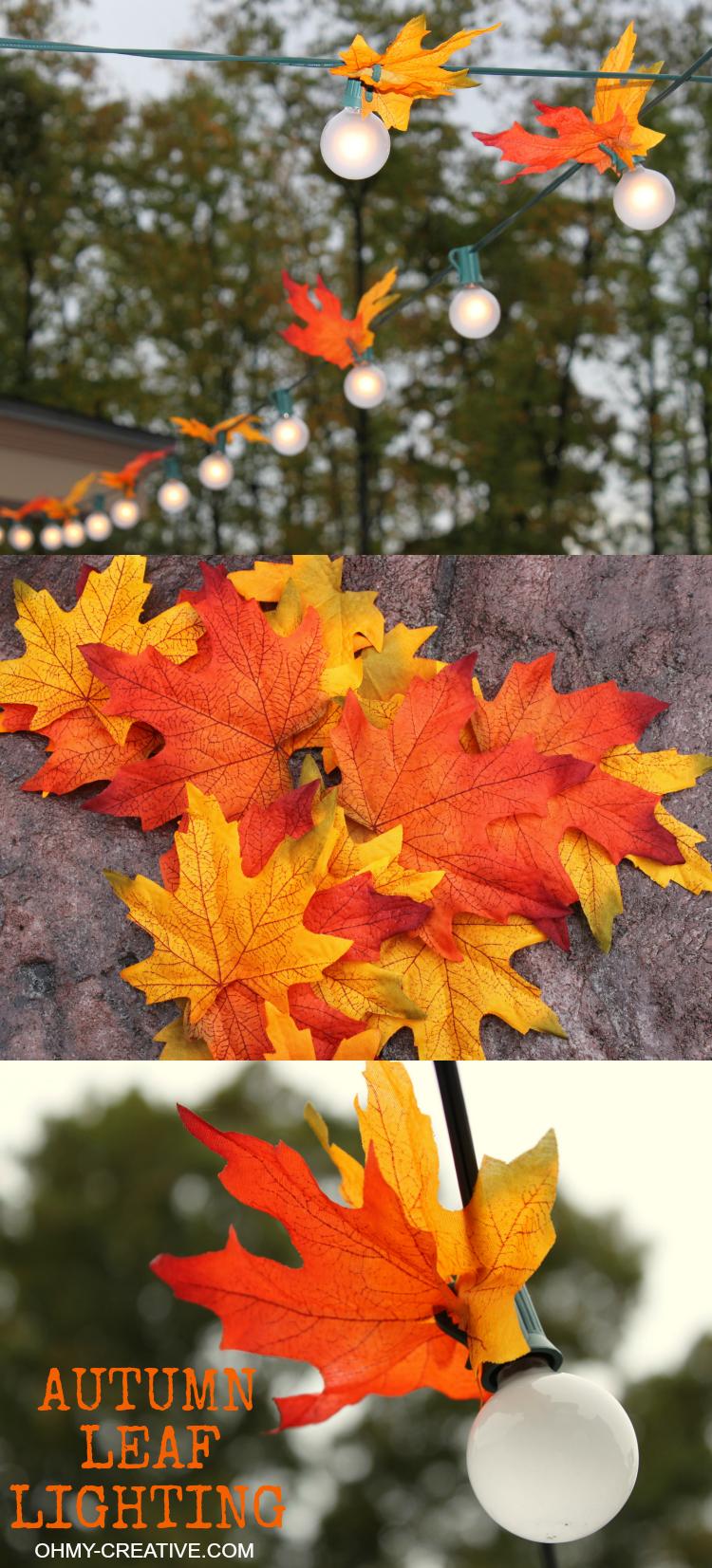 Autumn Leaf Lighting Oh My Creative