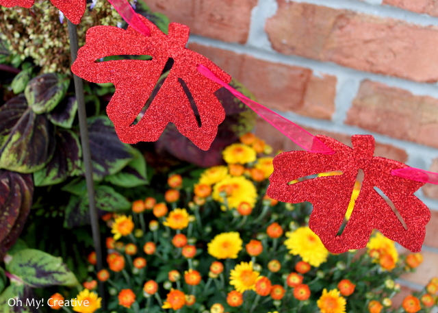 Autumn Garden Garland For Potted Plants