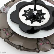 DIY Skull Glitter Halloween Charger Plate