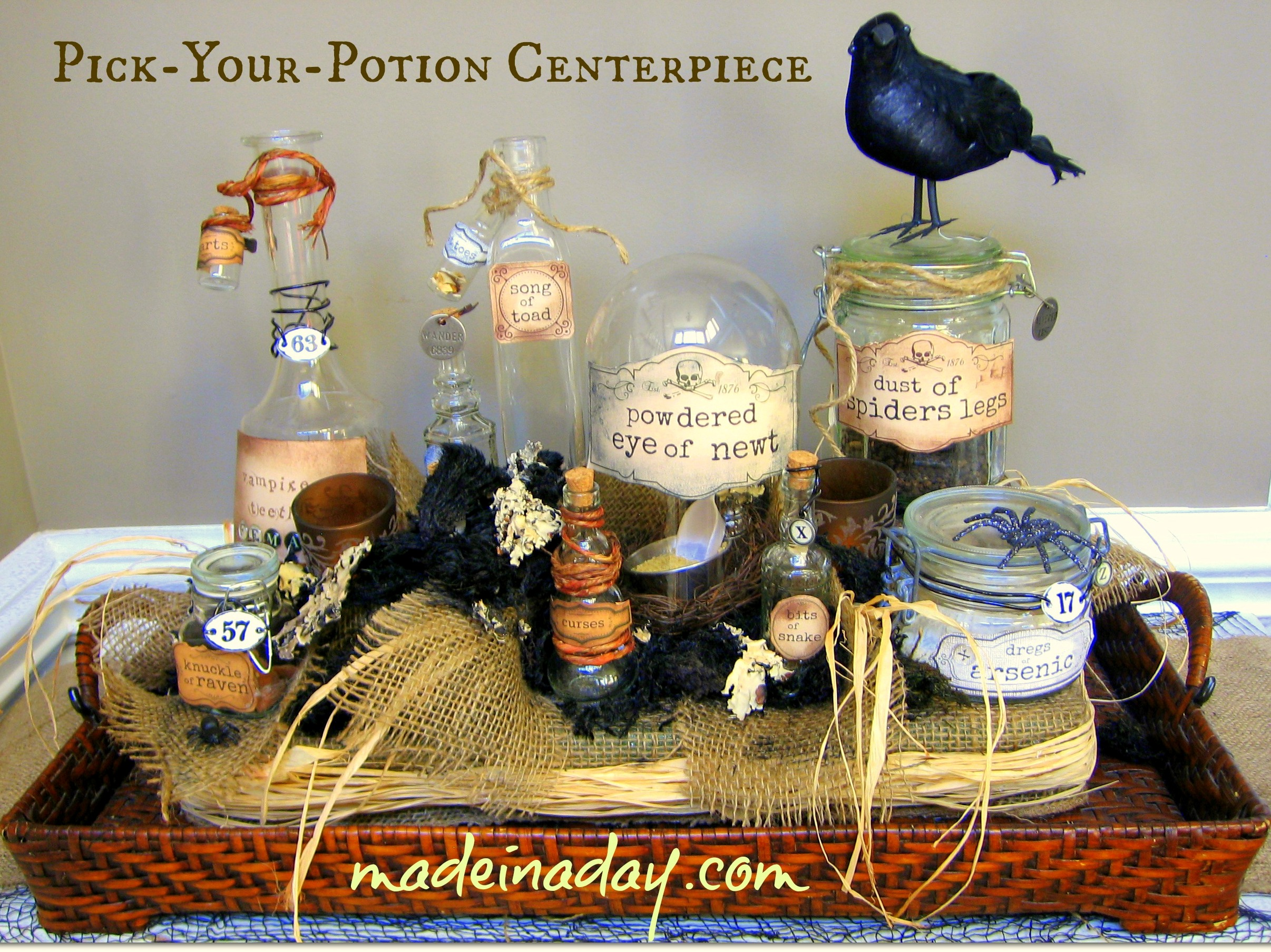 Pick your potion centerpiece oh my creative