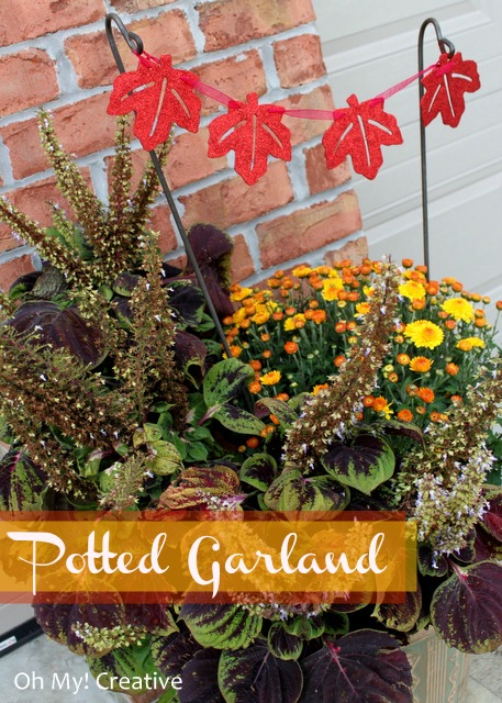 Autumn garden garland for potted plants oh my creative - Potted autumn flowers ...