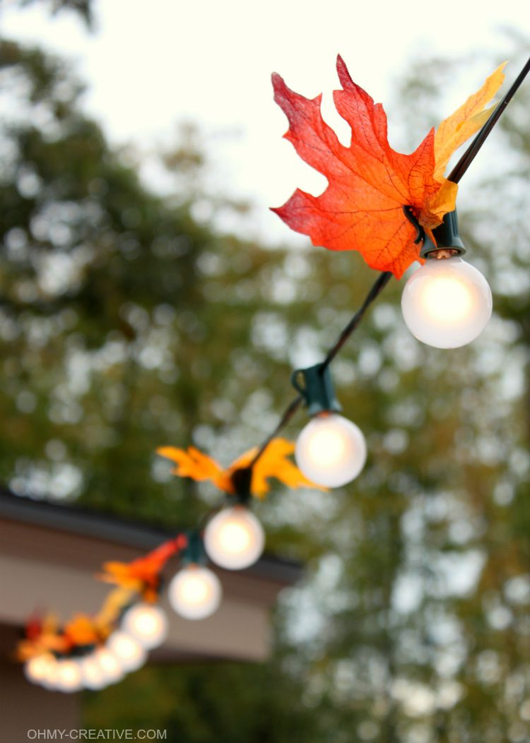 Autumn Leaf Lighting Oh My Creative