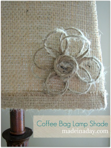 DIY Burlap Lamp Shades