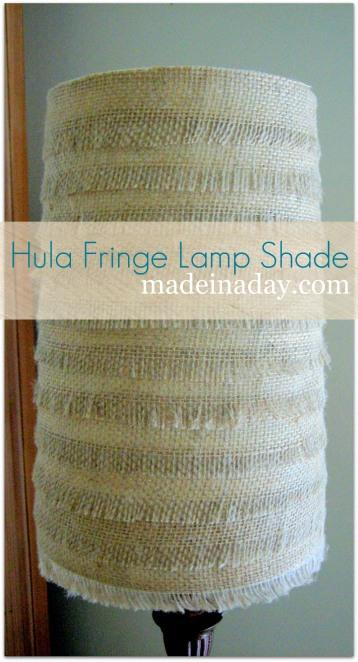 DIY Burlap Lamp Shade