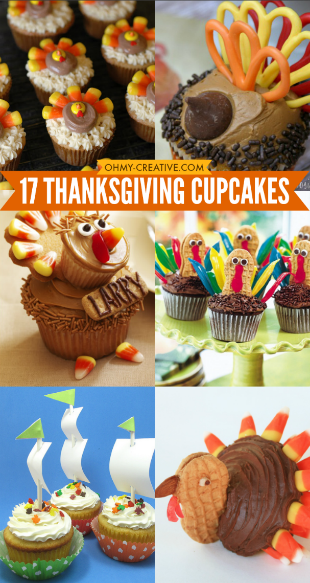 Thanksgiving Cupcakes Oh My Creative - Cupcakes for thanksgiving decorating ideas