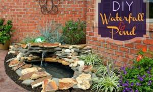 DIY BACKYARD POND & LANDSCAPE WATER FEATURE | OHMY-CREATIVE.COM