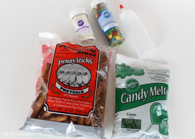 green candy melts