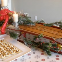 Flexible Flyer Sled Christmas Tablescape