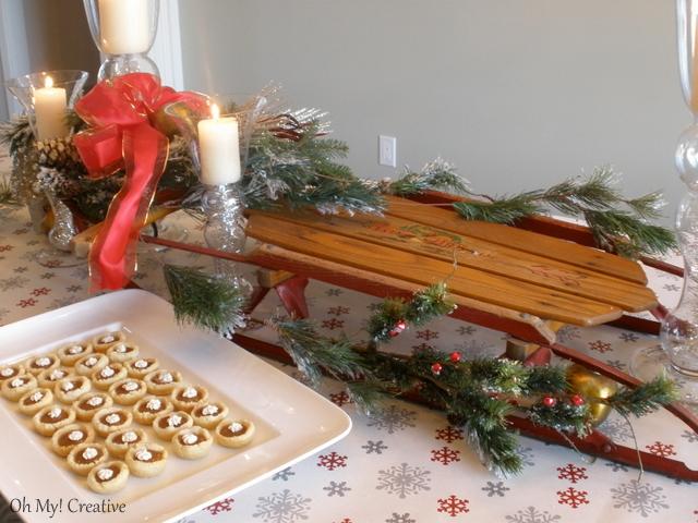 Flexible Flyer Sled Christmas Tablescape