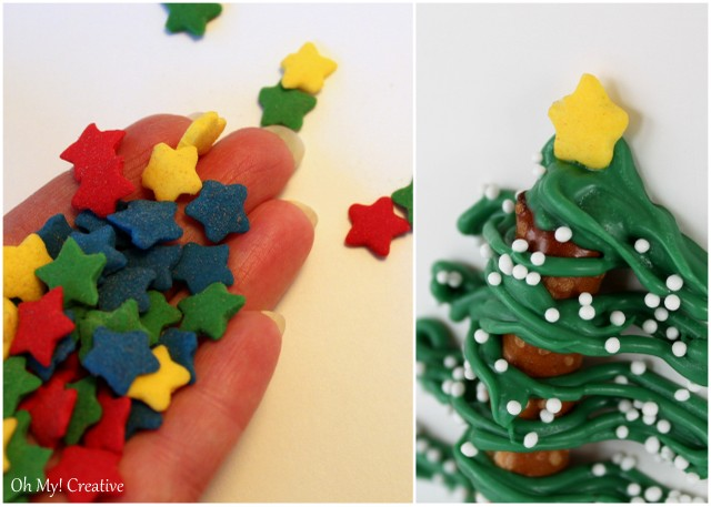 Wilton candy stars for Christmas tree top