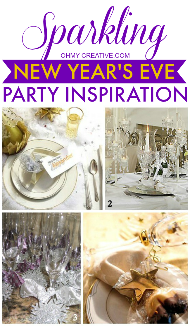 Sparkling New Year S Eve Nails Tutorial: Sparkling New Year's Eve Party Inspiration