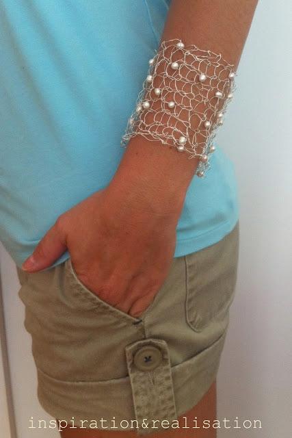 knitted wire cuff bracelet