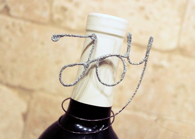 Glitter Wire Wine Bottle Gift Tags