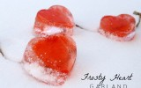 Frosty Valentine's Day Heart Garland 3