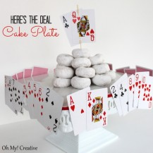 Here's the deal cake plate Poker/casino night party ideas