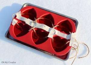 Frosty Valentine's Day Heart Garland