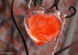 Frosty Valentine's Day Heart Garland