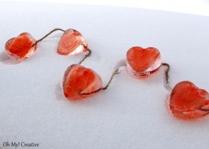 Icey Valentine's Day Heart Garland