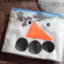 Shaving Cream Snowman Kids Craft
