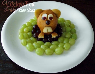 Groundhog day fruit snack