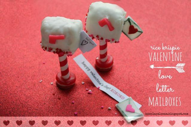 rice krispie valentine love letter mailboxes