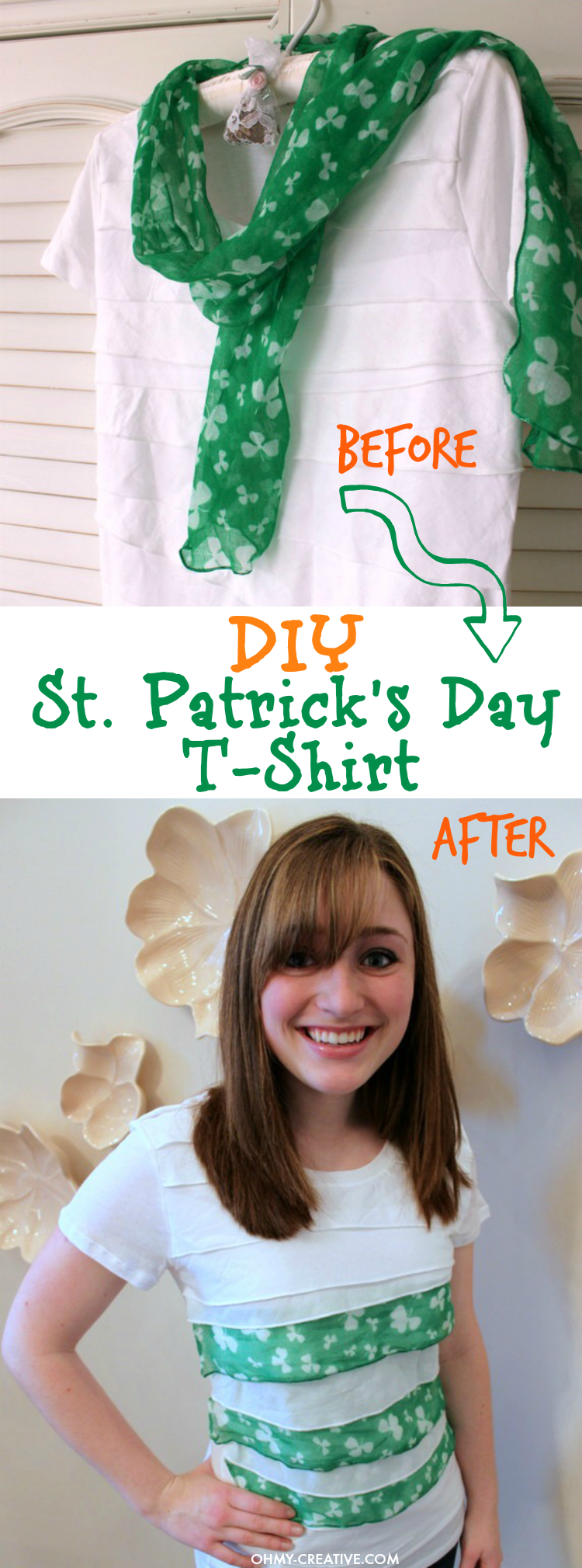 DIY ST. PATRICK'S DAY T-SHIRT - Oh My Creative