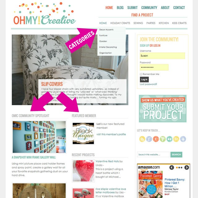 Oh My! Creative Website Updates