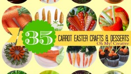35 Carrot Easter Crafts & Desserts - OhMy-Creative.com