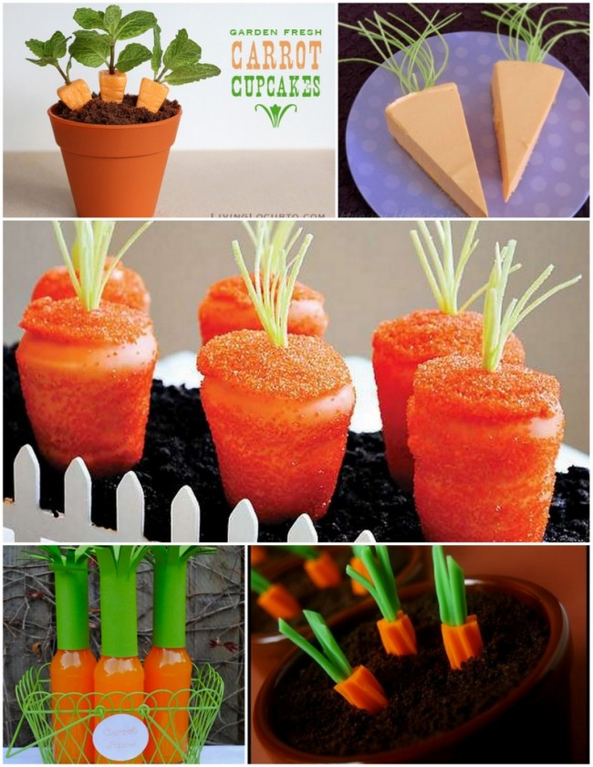 35+ Easter Carrot Crafts and Desserts! Including tasty desserts to crafts for the kids or to decorate the home! | OHMY-CREATIVE.COM #easterdecorations #easterdecor #eastercrafts #easterdesserts #carrotcrafts #carrotdesserts