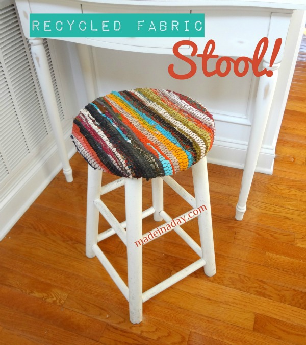 Recycled Fabric Stool Knockoff