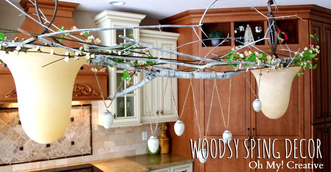 Nothing is better than a practically free Spring Decor idea that looks amazing like our latest Woodsy Spring Decor Idea!  Perfect for any holiday look!