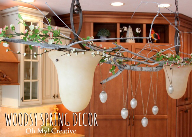 Woodsy Spring Decor Idea