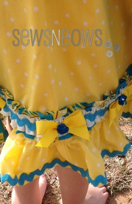 Feathers N Dots Little Girl Dress