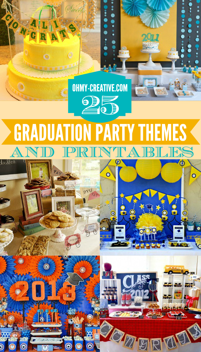 25 graduation party themes ideas and printables - S party theme decorations ...