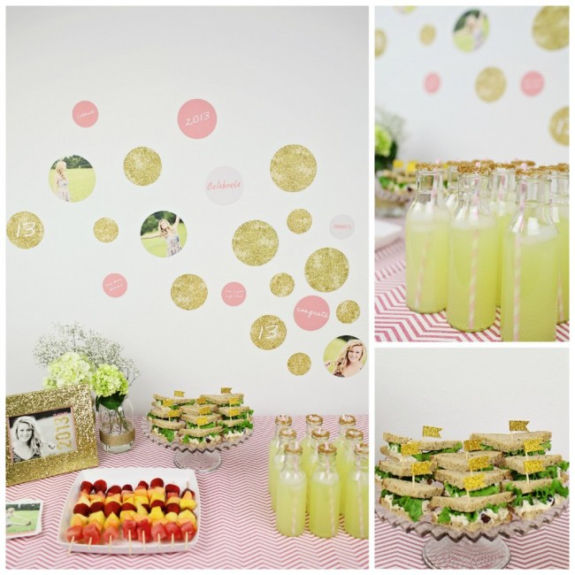 Glam Gold Girl Graduation Party Theme
