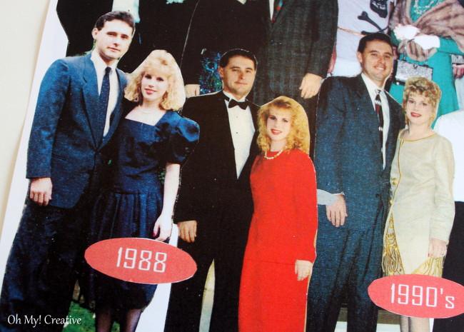 DIY Photo Timeline Milestone Birthday Invitations for 30th, 40th, 50th, 60th + Birthdays