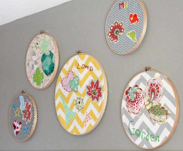 Embroidery hoop art kids craft oh my creative