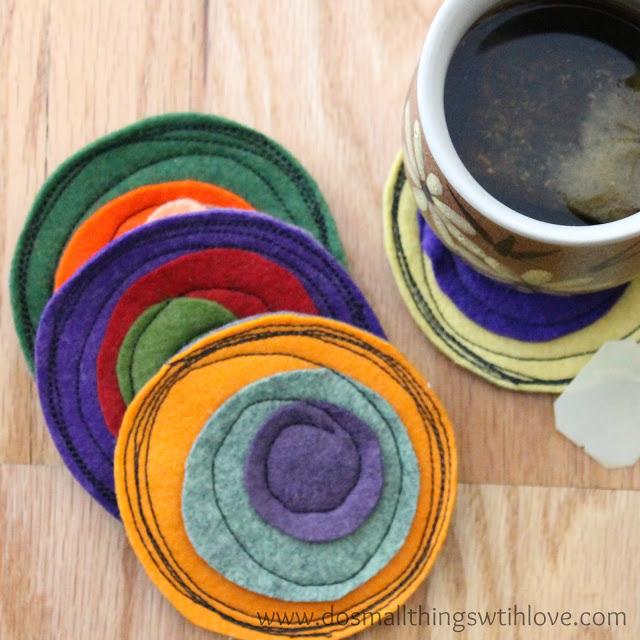 DIY-Felt-circle-drink-coasters