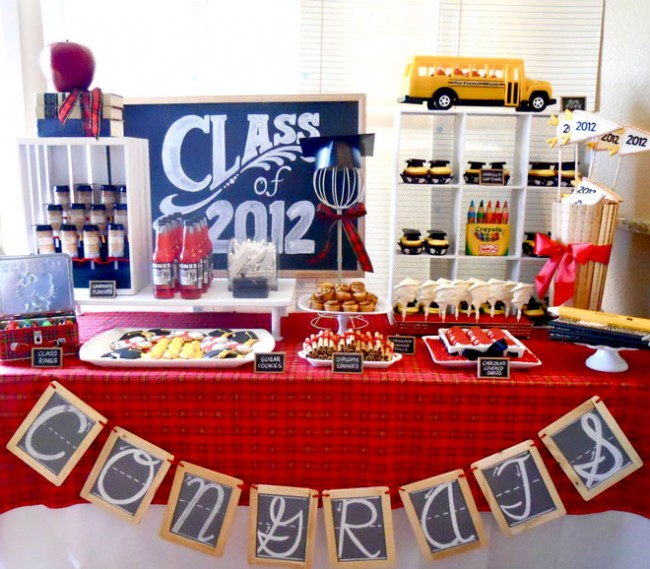 graduation party theme and dessert table - Graduation Party Decoration Ideas