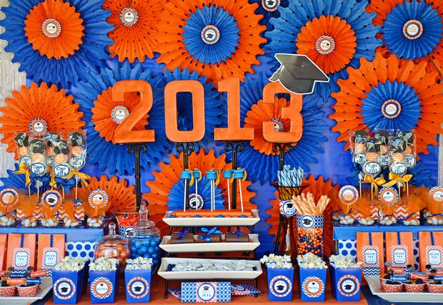 Blue & Orange Graduation party