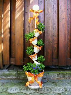 Stacked Newspaper Garden Pots